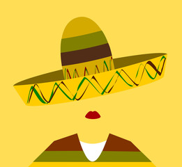 woman wearing sombrero