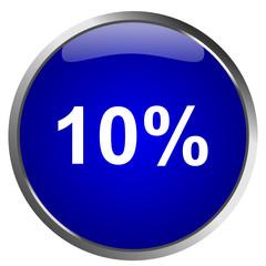 10% Button Sale Blau