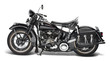 canvas print picture - vintage motorbike