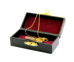 Accessories in luxury box pad by red flannel