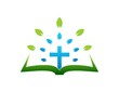 cross logo,gospel,leaf abstract symbol,religious icon - 66646496