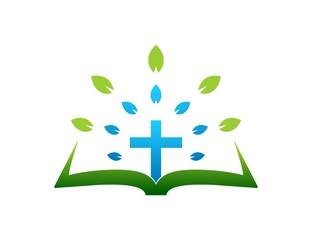 cross logo,gospel,leaf abstract symbol,religious icon