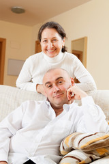 couple in home interior