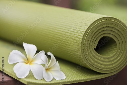 Deurstickers Gymnastiek yoga mat