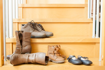 pairs of shoes  in home
