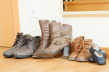 pairs of autumn shoes