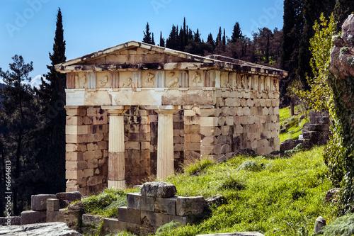 Ancient Greek temple, Delphi Greece