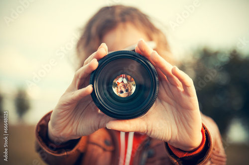 through camera lens - 66648025