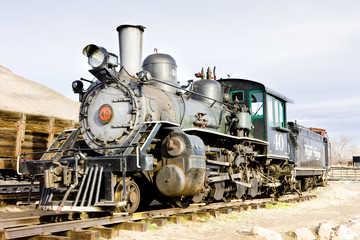 stem locomotive in Colorado Railroad Museum, USA