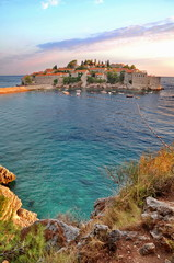 Old town of Sveti Stefan in Montenegro