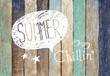 Colorful Wooden Plank and Summer Concepts