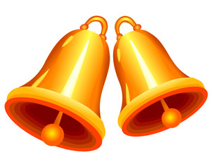 Vector format of two golden bells