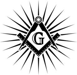 Freimaurer Symbol, G - Großer Architekt, Gott,