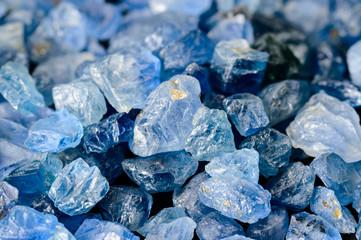 Set of blue sapphires