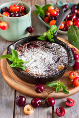Clafoutis with cherry