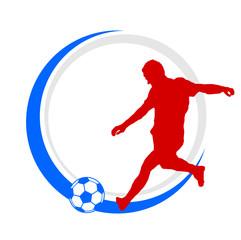 Logo Fußballer rot weiß blau