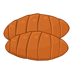croissants isolated illustration