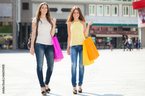 Women doing shopping