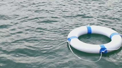 If you see someone in the water throw the lifebuoy