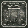 Restaurant Food Menu Design with Chalkboard Background - 66650881