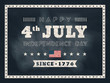 4th of july Independence day chalkboard background for card or p