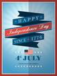 4th of july Independence day ribbon background for card or poste