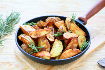 fried potatoes in their skins