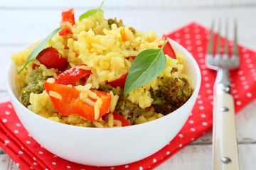 vegetable pilaf with paprika