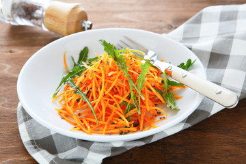 salad with fresh carrots