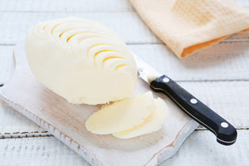 butter on a cutting board