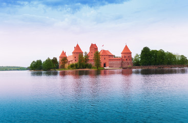 Galve lake and Trakai castle island