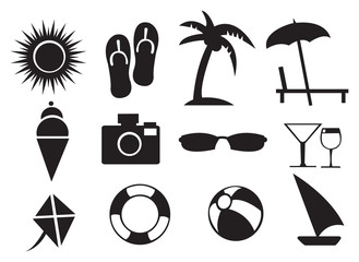 Vector illustration of Summer Related Isolated Objects