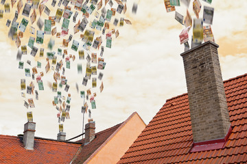 euro money flies up the chimneys