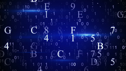 digital hexadecimal data loopable background
