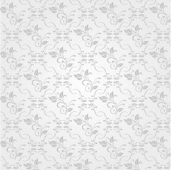 Vector white ornament background