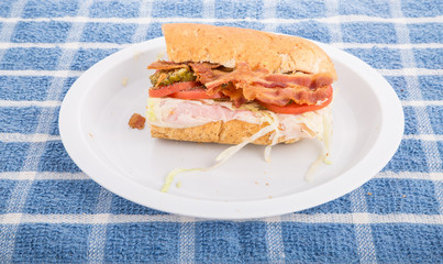 Sub Sandwich with Bacon