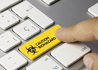 Caution biohazard. Keyboard