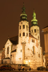 Historic XI century St  Andrew fortress church in Krakow