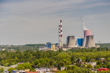 Thermal power station - Lagisza, Poland, Europe.