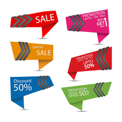 Set of special offer labels.