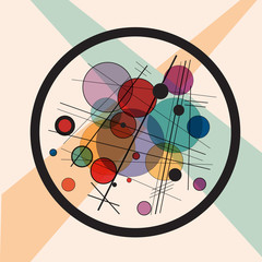 Vector abstract background. Fake framework of Kandinsky #4
