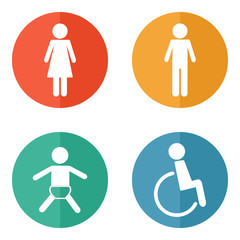 Vector restroom icons