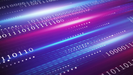 digital data transfer blue technology loopable background