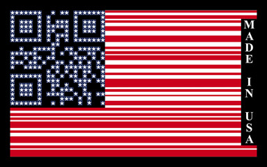 USA barcode flag, vector