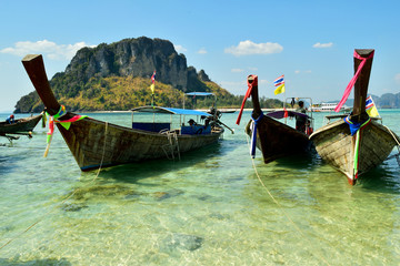 The beach on Krabi tropical island