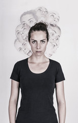 Schizophrenic woman