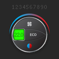 AC control with editable lcd