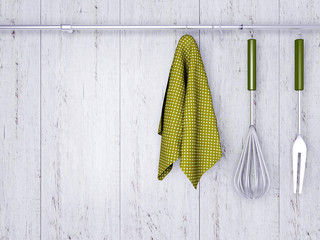 Kitchen cooking utensils.