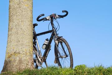 Trekking bike leaning