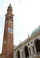 Tower of the Basilica Palladiana di Vicenza designed by Andrea P